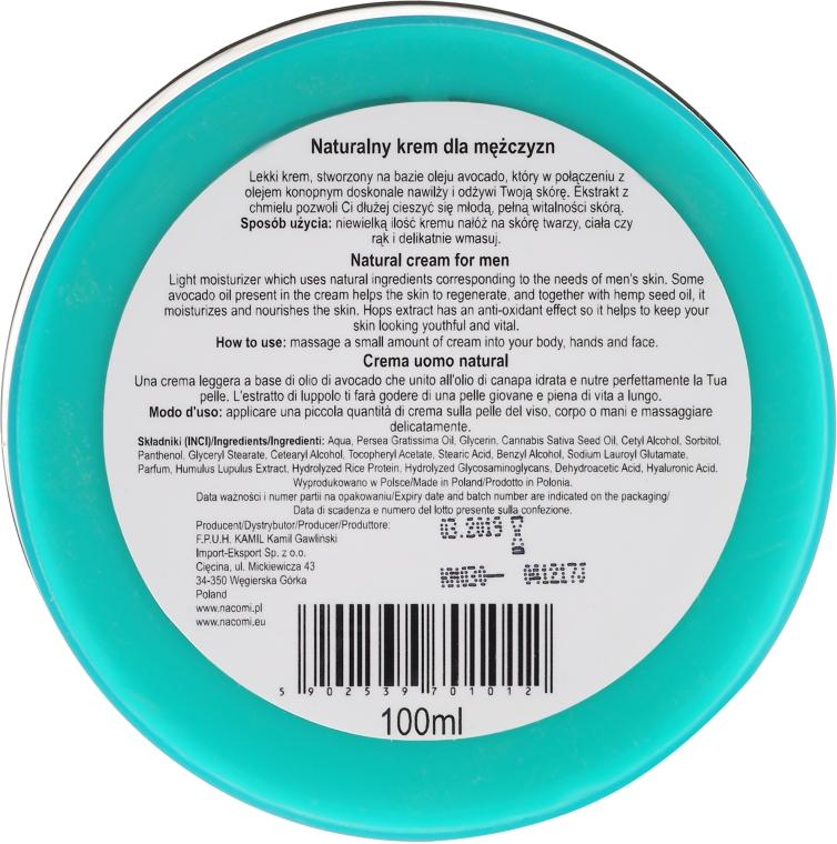 Tělový krém - Nacomi Only For Men Natural Cream — foto N2