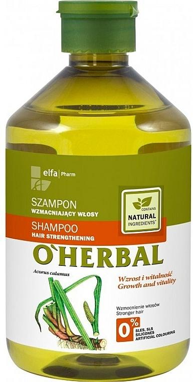 Posilující šampon na vlasy s extraktem kořenů calamus - O'Herbal — foto N1