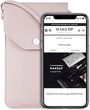 Parfémy, Parfumerie, kosmetika Taštička na mobil s popruhem, pudrová Cross - Makeup Phone Case Crossbody Powder