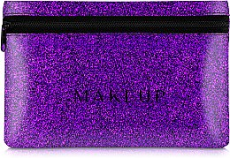 "Parfémy, Parfumerie, kosmetika Silikonová kosmetická taška, fialová ""Glitter Pouch"", 18x11cm - MakeUp"
