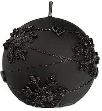 Parfémy, Parfumerie, kosmetika Dekorativní svíčka, koule, černá, 12 cm - Artman Snowflake Application