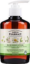 Parfémy, Parfumerie, kosmetika Gel pro intimní hygienu s měsíčkem a extraktem čajovníku - Green Pharmacy