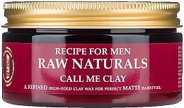Parfémy, Parfumerie, kosmetika Vosk na vlasy - Recipe For Men RAW Naturals Call Me Clay