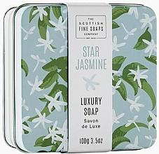 Parfémy, Parfumerie, kosmetika Tělové mýdlo v metalické nádobě Hvězdný jasmín - Scottish Fine Star Jasmine Soap In A Tin