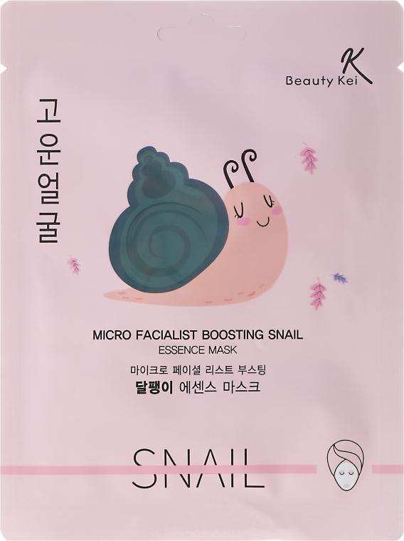 Plátýnková maska na obličej - Beauty Kei Micro Facialist Boosting Snail Essence Mask — foto N1