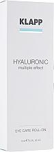 """Parfémy, Parfumerie, kosmetika Oční gel """"Hyaluronic"""" - Klapp Hyaluronic Eye Roll-On"""