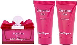 Parfémy, Parfumerie, kosmetika Salvatore Ferragamo Signorina Ribelle - Sada (edp/50ml +sh/gel/50ml+ b/lot/50ml)