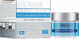 Parfémy, Parfumerie, kosmetika Krém proti vráskám s kyselinou hyaluronovou a peptidy 45+ - Ava Laboratorium L'Arisse 5D Anti-Wrinkle Cream Phytohyaluron + Peptides
