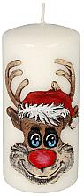 Parfémy, Parfumerie, kosmetika Dekorativní svíčka Rudolf, bílá, 7x10 cm - Artman Christmas Candle Rudolf