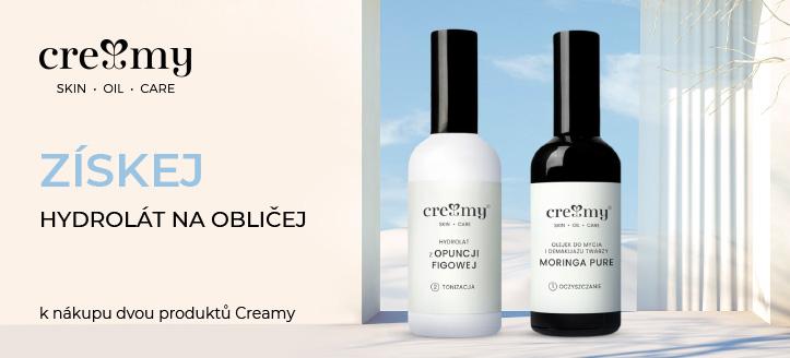 K nákupu dvou produktů Creamy získej hydrolat s extraktem z opuncie mexické jako dárek
