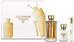 Parfémy, Parfumerie, kosmetika Prada La Femme Prada - Sada (edp/100ml + b/lot/100ml + edp/mini/10ml)