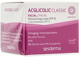 Parfémy, Parfumerie, kosmetika Hydratační krém - SesDerma Laboratories Acglicolic Classic Moisturizing Cream SPF 15