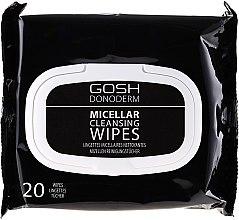 Parfémy, Parfumerie, kosmetika Micelární ubrousky pro odstraňování make-upu - Gosh Donoderm Micellar Cleansing Wipes