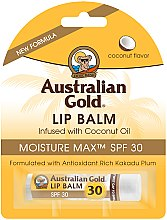 """Parfémy, Parfumerie, kosmetika Balzám na rty """"Kokos"""" - Australian Gold Lip Balm Infused With Coconut Oil SPF 30"""