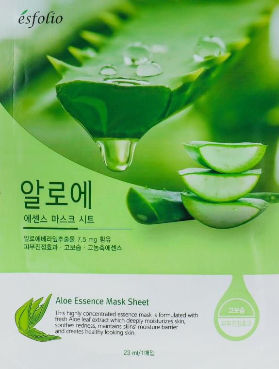 Látková maska s extraktem aloe vera - Esfolio Aloe Essence Mask Sheet