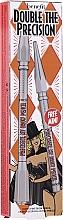 Parfémy, Parfumerie, kosmetika Sada - Benefit Double Precisely My Brow Pencil (pencil/0.08g + pencil/0.04g) (3 -Warm Light Brown)