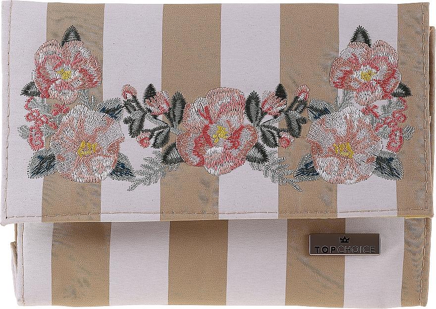 Kosmetická taška se zrcátkem Chaplet, 96501, béžová - Top Choice