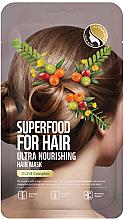 Parfémy, Parfumerie, kosmetika Ultra vyživující maska na vlasy s olivovým extraktem - Superfood For Skin Hair Mask With Olive Cloth