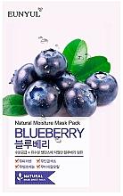 Parfémy, Parfumerie, kosmetika Látková pleťová maska s borůvkovým extraktem - Eunyul Natural Moisture Blueberry Mask
