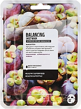 "Parfémy, Parfumerie, kosmetika Textilní maska na obličej ""Mangosteen"" - Superfood For Skin Balancing Sheet Mask"