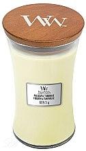 Parfémy, Parfumerie, kosmetika Vonná svíčka ve sklenici - WoodWick Hourglass Candle Fig Leaf and Tuberose
