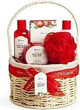 Parfémy, Parfumerie, kosmetika Sada - IDC Institute Vintage Fruits (sh/g/160ml+b/lot/160ml+b/scrub/110ml+salt/100g+sponge+basket)