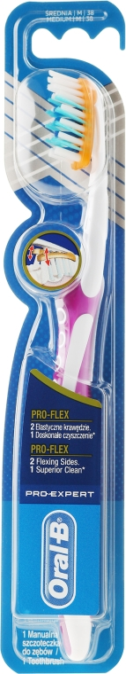 Zubní kartáček,lilový - Oral-B Pro-Expert Pro-Flex 38 Medium — foto N1