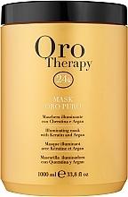 Parfémy, Parfumerie, kosmetika Revitalizační maska na vlasy s aktivními mikročásticemi zlata - Fanola Oro Therapy Oro Puro Mask