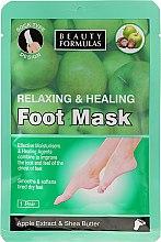 """Parfémy, Parfumerie, kosmetika Maska na nohy """"Jablečný extrakt a bambucké máslo"""" - Beauty Formulas Relaxing And Healing Foot Mask"""