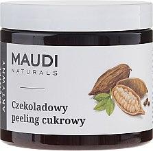 """Parfémy, Parfumerie, kosmetika Cukrový tělový peeling """"Čokoláda s aktivním uhlím"""" - Maudi"""