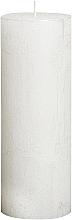 Parfémy, Parfumerie, kosmetika Válcová svíčka Metallic White, 190/68 mm - Bolsius Candle
