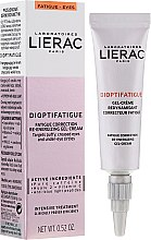 Parfémy, Parfumerie, kosmetika Energetický gelový krém na pokožku kolem očí proti známkám únavy - Lierac Dioptifatigue Fatigue Correction Re-Energizing Gel-Cream