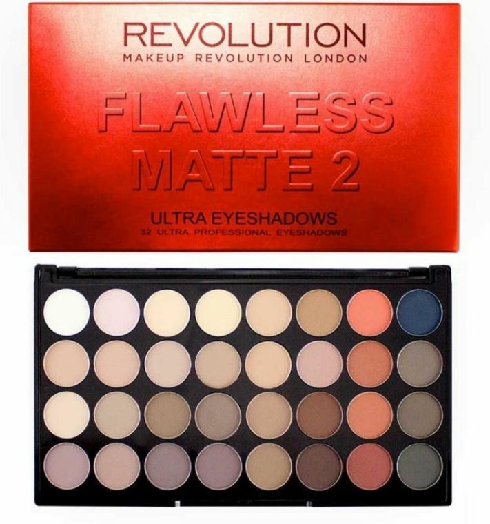 Paleta očních stínů, 32 odstínů - Makeup Revolution Ultra 32 Shade Palette Flawless Matte 2 — foto N2