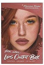 Parfémy, Parfumerie, kosmetika Sada na líčení rtů - Pierre Rene Lips Outfit Box No. 03 @Im.Nikki (lipstick/3g + lip/pensil/0.4g + lip/gloss/6ml)