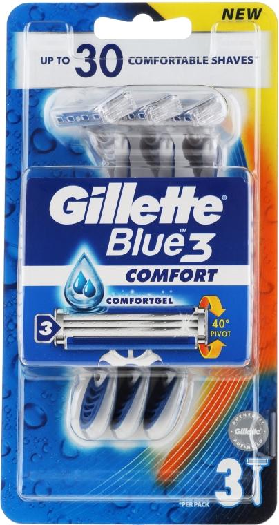 Sada jednorázových holicích strojků, 3 ks - Gillette Blue 3 Comfort