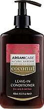 Parfémy, Parfumerie, kosmetika Nesmyvatelný kondicionér pro suché a vlnité vlasy - Arganicare Coconut Leave-In Conditioner For Curly & Dull Hair