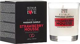"""Parfémy, Parfumerie, kosmetika Přírodní masážní svíčka """"Jahoda"""" - Sezmar Collection"""