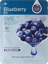 Parfémy, Parfumerie, kosmetika Hydratační látková maska na obličej Borůvka - Rorec Natural Skin Blueberry Mask