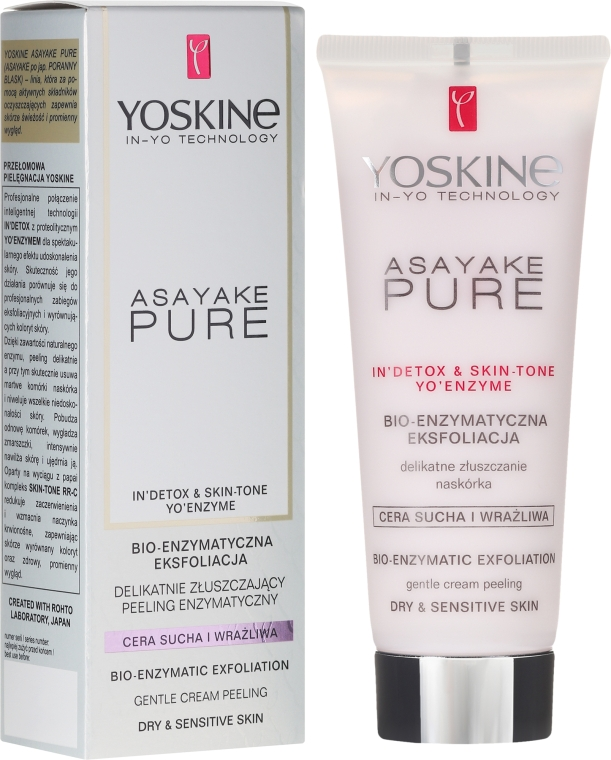 Enzymový peeling pro suchou a citlivou plet' - Yoskine Asayake Pure Bio Enzym Peeling