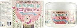 Parfémy, Parfumerie, kosmetika Pleťový krém-peeling proti pigmentovým skvrnam - Elizavecca Face Care Milky Piggy Real Whitening Time Secret Pilling Cream