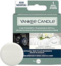 Parfémy, Parfumerie, kosmetika Aroma difuzér do auta - Yankee Candle Car Powered Fragrance Refill Fluffy Towels (náhradní náplň)