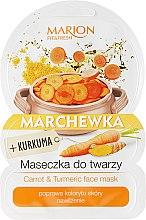 "Parfémy, Parfumerie, kosmetika Maska na obličej ""Mrkev a kurkuma"" - Marion Fit & Fresh Carrot & Turmeric Face Mask"