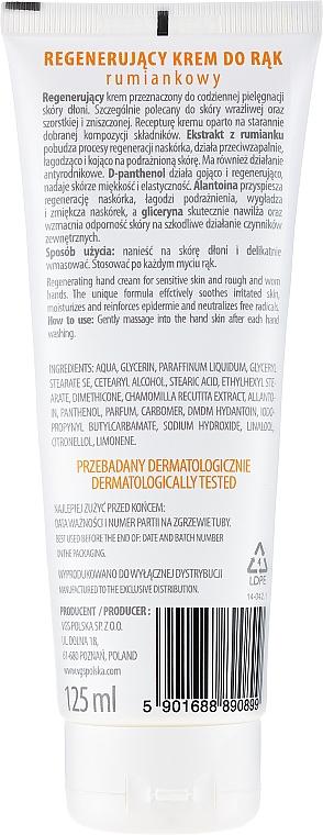 Regenerační krém na ruce heřmánkový - VGS Polska Camomile Hand Cream — foto N2