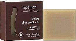 """Parfémy, Parfumerie, kosmetika Přírodní mýdlo """"Brahmi"""" pro suchou pokožku - Apeiron Brahmi Plant Oil Soap"""