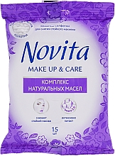 Parfémy, Parfumerie, kosmetika Vlhčené ubrousky Make up s komplexem přírodních olejů - Novita Delicate