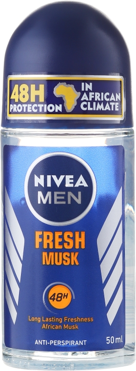 Kuličkový deodorant - Nivea For Men Fresh Musk Roll On