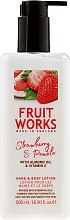 Parfémy, Parfumerie, kosmetika Lotion na rece a tělo - Grace Cole Fruit Works Hand & Body Lotion Strawberry & Pomelo