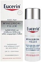 Parfémy, Parfumerie, kosmetika Denní krém proti vráskám pro normální a kombinovanou pleť - Eucerin Hyaluron-Filler Day Cream For Combination To Oily Skin