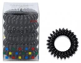 Parfémy, Parfumerie, kosmetika Gumička-náramek do vlasů, černá - Rolling Hills 5 Traceless Hair Rings