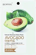Parfémy, Parfumerie, kosmetika Látková pleťová maska s avokádem - Eunyul Natural Moisture Mask Pack Avocado